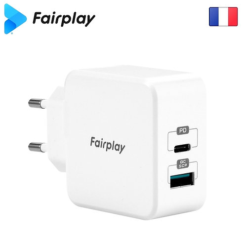FAIRPLAY MONZA Chargeur 30W/USB-A-C