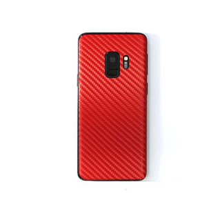 Covering smartphone carbone rouge