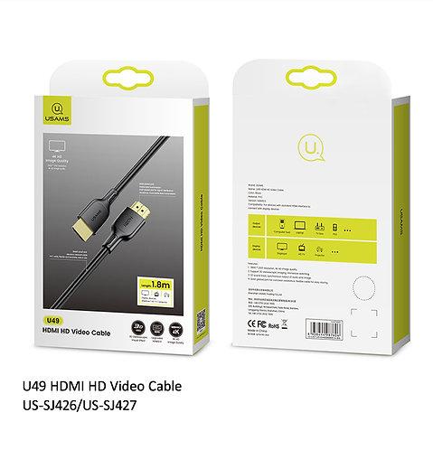 USAMS U49 Câble HDMI 4K (1,8m)