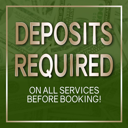 Deposits Required Flyer