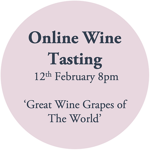 Ticket to Online Wine Tasting Friday 12th February