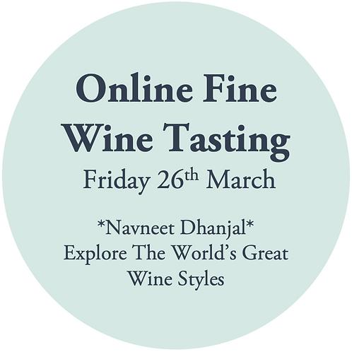 Ticket to Online Fine Wine Tasting - Navneet Dhanjal