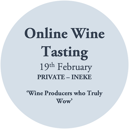 Online Wine Tasting - Ineke Koopmans 19th February