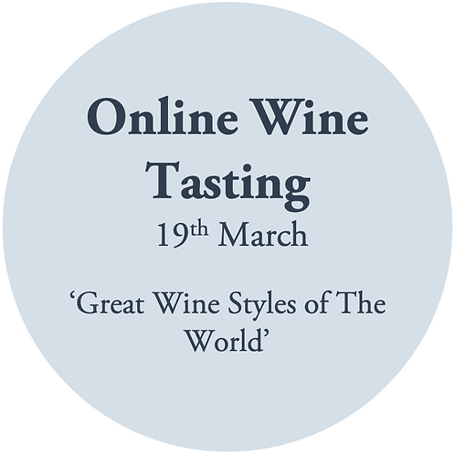 Ticket to Online Wine Tasting Friday 19th March
