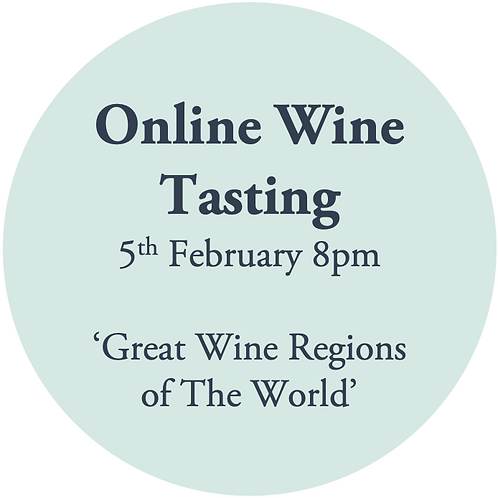 Ticket to Online Wine Tasting 5th February