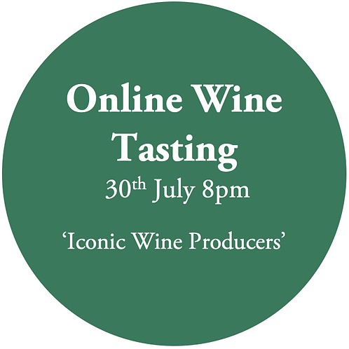 Ticket to Online Wine Tasting Friday 30th July