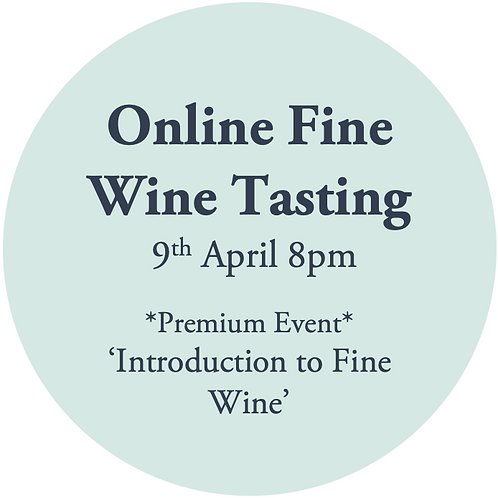 Ticket to Online Premium Wine Tasting Friday 9th April