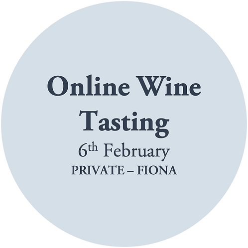 Fiona Taylor February 6th Online Wine Tasting