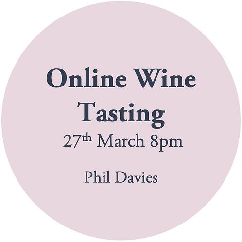 Online Wine Tasting - Phil Davies 27th March