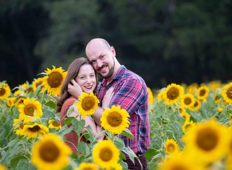 Ashley & Jason – Sunflower Field Engagement
