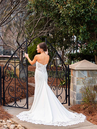 Bridal Portrait session at Myers Park Presbyterian Church in Charlotte North Carolina