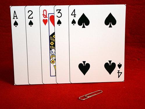 Clipped Card Magic Trick