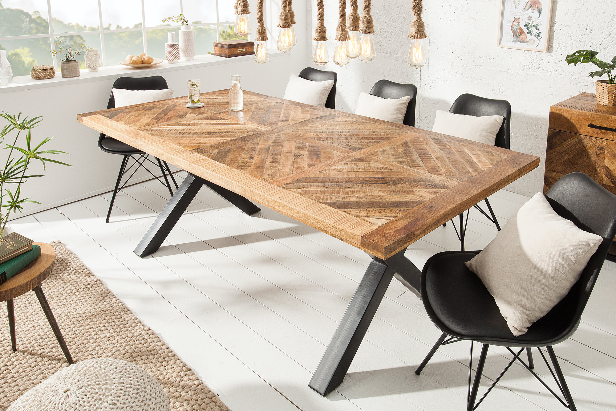 INFINITY HOME Solid Dining Table 9cm Natural Mango Wood   SITHEIM  EuropeINFINITY HOME Solid Dining Table 9cm Natural Mango Wood9.9