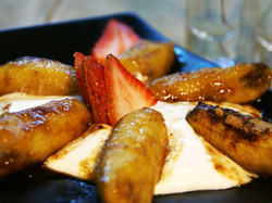Plátanos Flameados con Mezcal