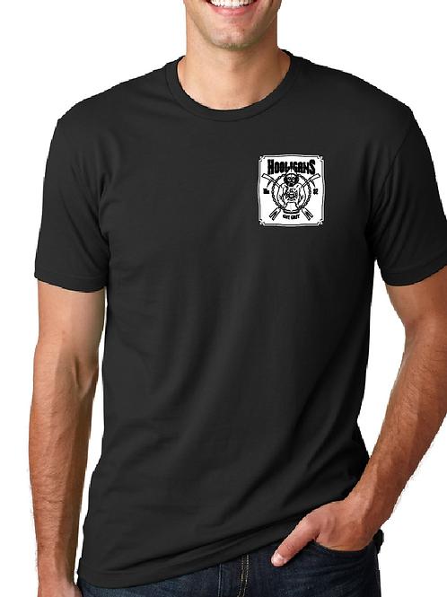 "Hooligans 4"" front left chest w/ full back T-shirt"
