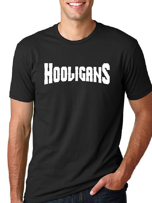 Hooligans front Banner full size Back t-shirt
