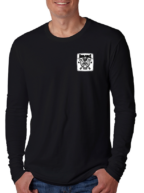 "Hooligans 4"" front left chest w/ full back Long Sleeve T-shirt"
