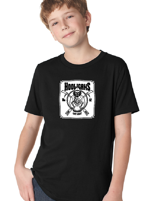 Hooligan Full size front youth t-shirt