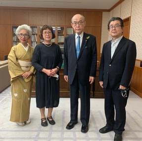 谷本正憲石川県知事に表敬訪問