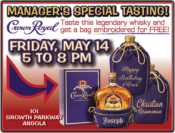 CROWN ROYAL EMBROIDERY TASTING POSTER 5-