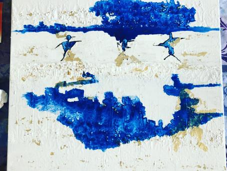 Les Trois grâces bleutées