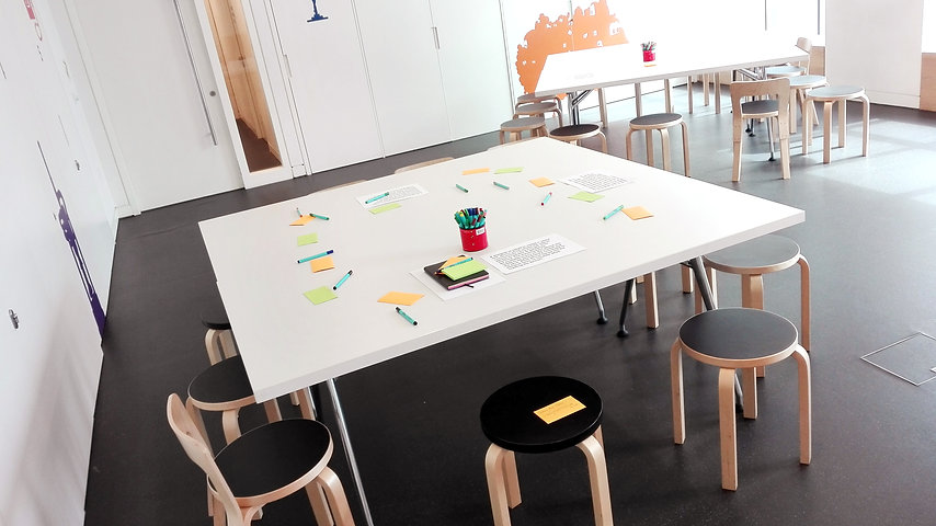 Workshop set up in Design museum