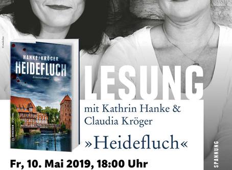 """10. Mai Lesung aus dem neusten Buch """"Heidefluch"""" von und mit  Kathrin Hanke und Claudia Kröger"""