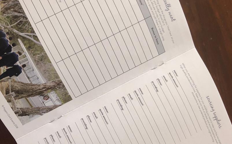 Wedding Planning Checklist Booklet - internal pages