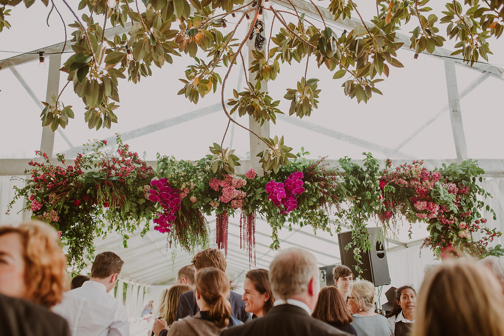 Riverside Wedding Perth | Flower arch entry