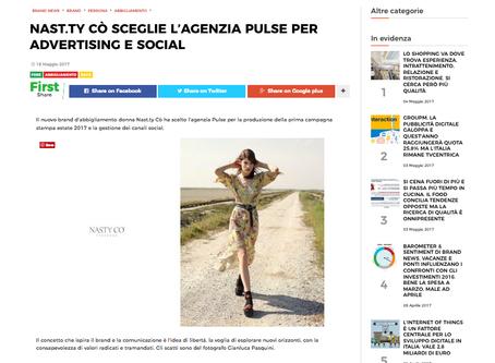 Il nuovo brand d'abbigliamento donna Nas.ty Cò ha scelto l'agenzia Pulse