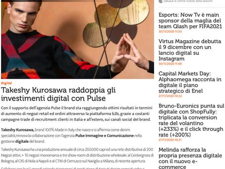 Takeshy Kurosawa raddoppia gli investimenti digital con Pulse