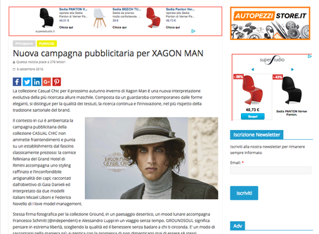 NUOVI ESTABILISHMENTS E MOOD LUNARI PER LE COLLEZIONI CASUAL CHIC E GROUND SOUL DI XAGON MAN.