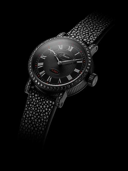 Premiers Swiss Luxury Black Diamond Watch
