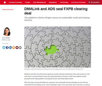DMALINK and ADS Securities LLC enter into Strategic FX Prime Brokerage Clearing Deal