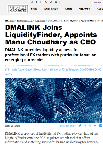 DMALINK® Appoints Former Lloyds Bank Senior Executive as CEO