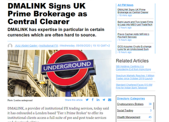 DMALINK Signs UK Prime Brokerage as Central Clearer
