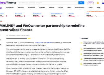 DMALINK® and WeOwn enter partnership to redefine decentralised finance