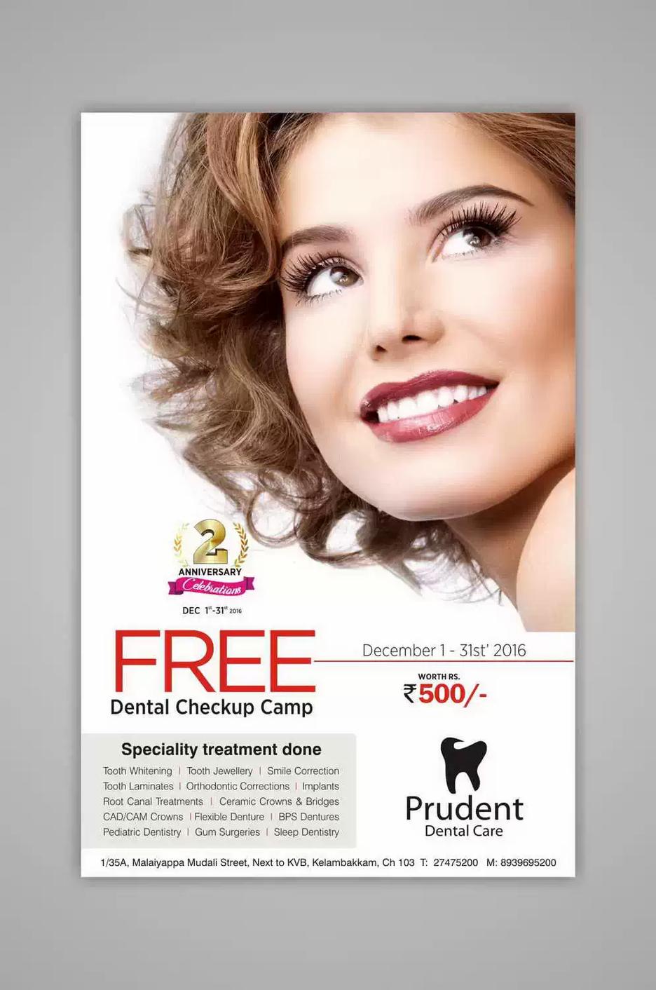 Client: Prudent Dental | Leaflet Printing