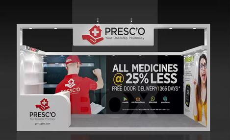 Client: Presco | BackDrop Design and Flex Printing