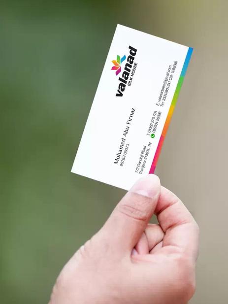 Client- Valanad Silks,Tanjore - Logo design | Business Card designing and printing | Branding