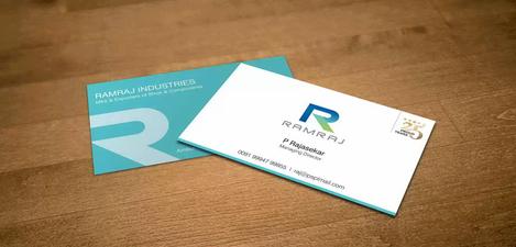 Client: Ramraj | Visiting Card Printing