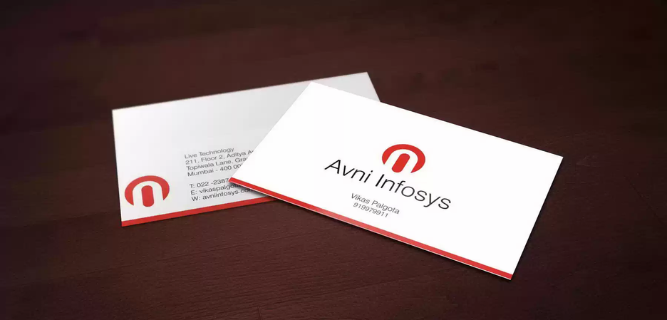 Client: Avni Infosys | Business Card