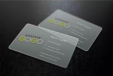 Client: Captain Gogo | Transparent Cards