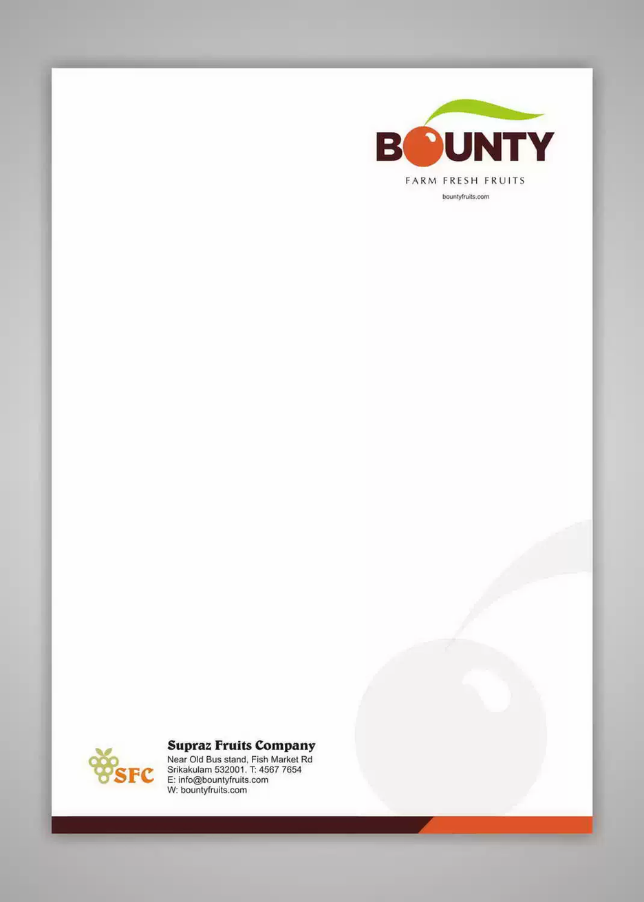 Client: Bounty | Stationery Designing & Printing