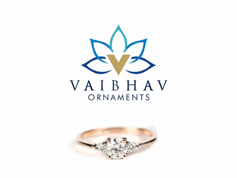 Cleint: Vaibhav Ornaments, Chennai - Logo designing | Business Card