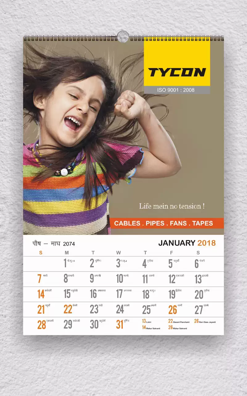 Client: Tycon Cables | Calendar Printing