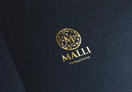 Malli Logo Gold Stamping Mock-Up.webp