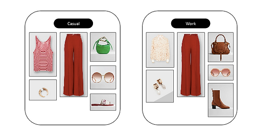 Different styles found using AskLily's AI and image recognition to act as a personal shopper for all customers