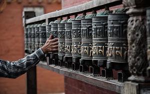Ruedas de rezo budistas