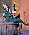 """Gerri Weagraff as """"Lady Grace"""" in Something's Afoot at The Candlelight Theatre"""